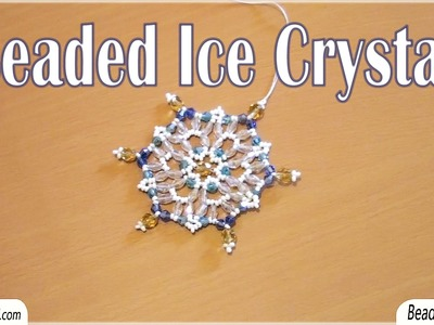 BeadsFriends: ice crystal made using beads, perfect for a Christmas tree