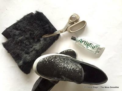 Come fare un paio di fashion DIY slip-on con eco-pelliccia!