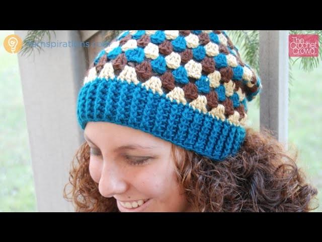 Crochet Granny Stripes Hat Tutorial