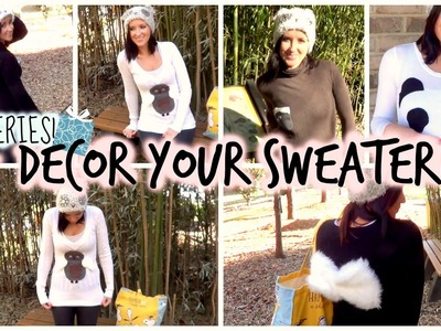 DIY: Decor Your Old.New Sweater - Gift Series! Owl, Panda Bear, Fuzzy Bow & More! ♡ Anastasia Cheva