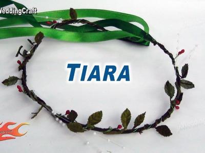 DIY Leaves Tiara. Crown. Head Band | How to make - JK Wedding Craft 024