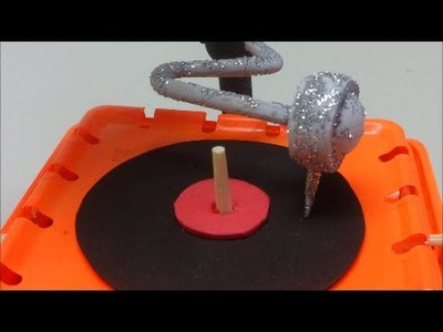 DIY Recycled Crafts Ideas: Making a Gramophone Recycled Bottles Crafts