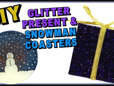 DIY Resin Glitter Present and Snowman Coasters ~ Another Coaster Friday Craft Klatch