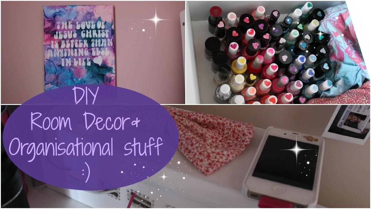 DIY: Room Decor.Organisational Things!!