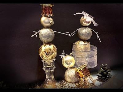 DIY - Snowman Family Ornament Figures