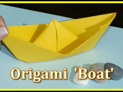 Easy ORIGAMI BOAT DEMO - Children's Educational Videos: Games & Puzzles for Kids!