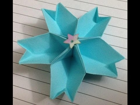 EASY origami flower instructions - How to make origami flowers (Cherry)