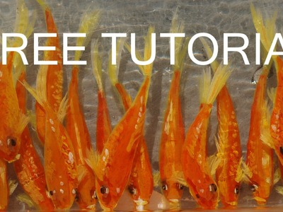 FREE Goldfish 3D Art Paint Illusions Tutorial