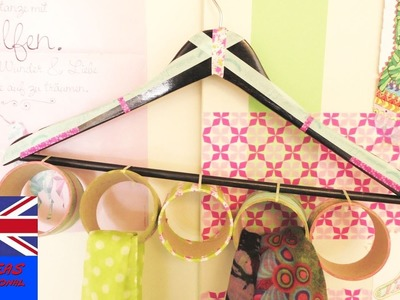 Hanger Crafting from Cardboard – Create a custom hanger for scarfs and shawls – kerchief rag cloth