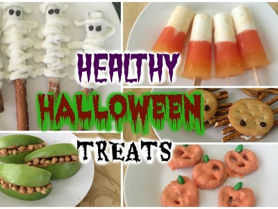 Healthy Halloween Treats. DIY Easy Recipes