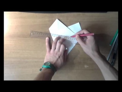 Hexagon from a square - Origami Basics