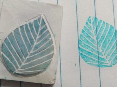 How To Carve A Leaf Eraser Stamp - DIY Crafts Tutorial - Guidecentral