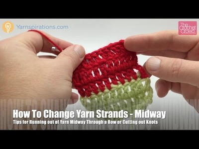 How to Change Yarn or Cut Out Knots Midway through Row.Round
