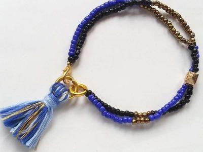 How To Create Seed Bead Tassel Bracelet - DIY Crafts Tutorial - Guidecentral