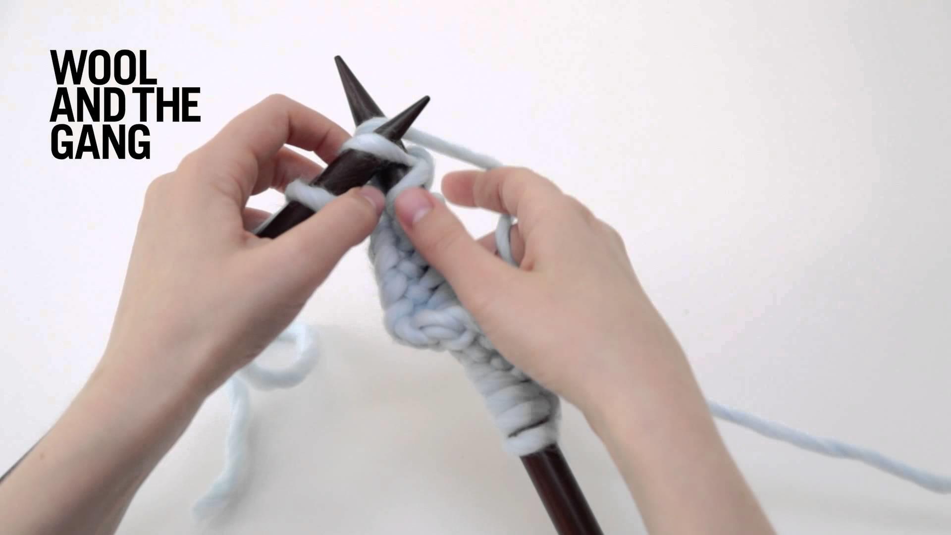 How to knit garter stitch