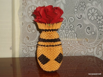 How to make 3d origami Vase (model 4)