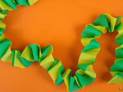 How to make a Crepe Paper Chain?