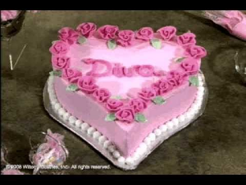 How to Make and Decorate a Diva Heart Cake by Wilton