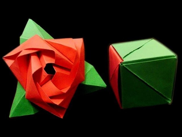 How to make: Origami Magic Rose Cube (Valerie Vann)