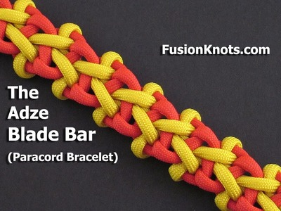How to Make the Adze Blade Bar (Paracord) Bracelet by TIAT