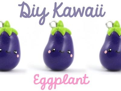 Kawaii Eggplant charm - Tutorial | Kawaii Friday