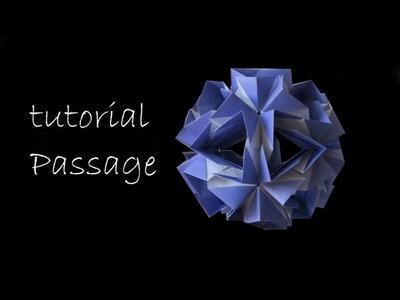 Kusudama  - modular origami - passage - Natalia Romanenko - tutorial - dutchpapergirl