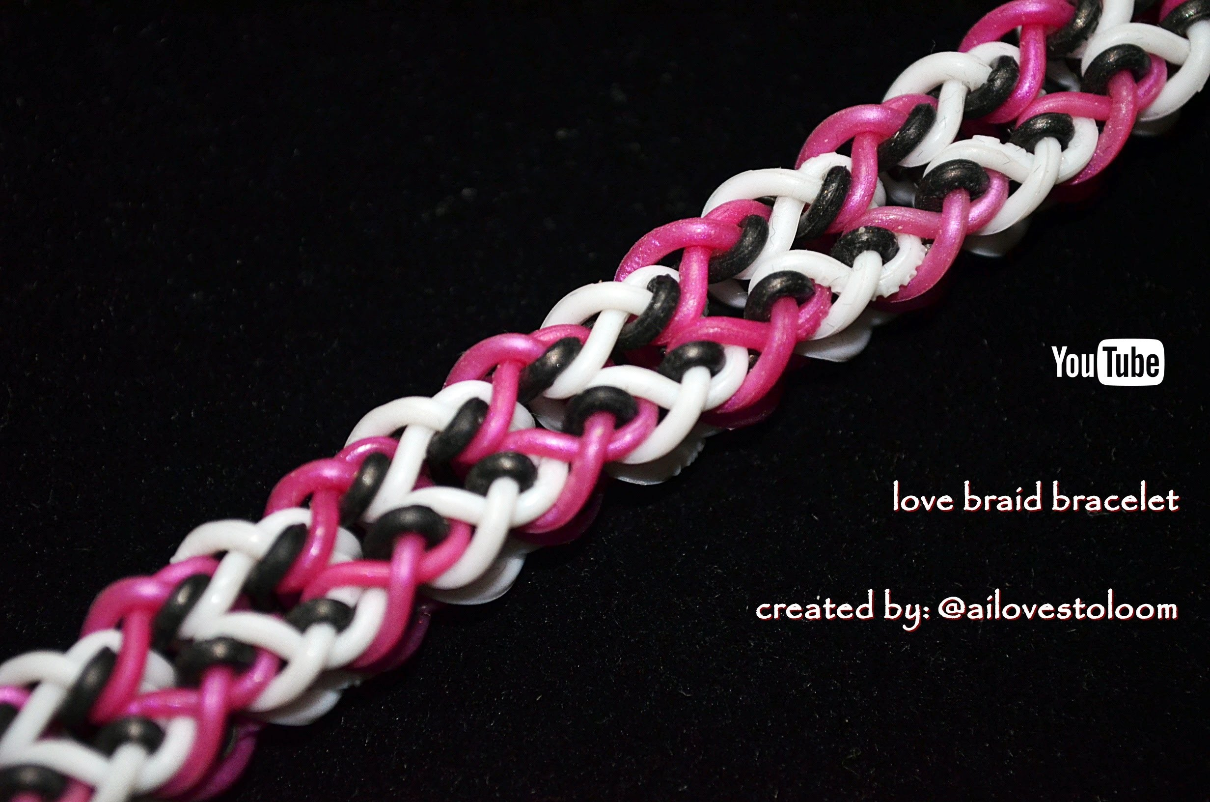 LOVE BRAID BRACELET HOOK ONLY DESIGN TUTORIAL