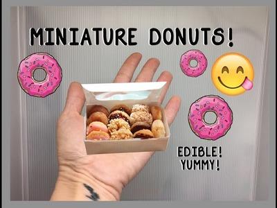MAKING MINIATURE DONUTS!