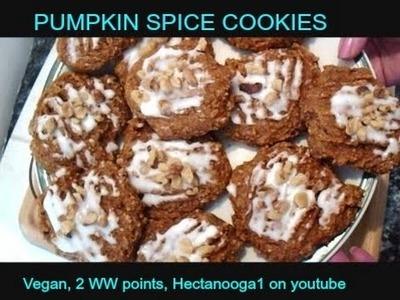 PUMPKIN SPICE COOKIES recipe, Vegan, 2 POINT WW Cookies,