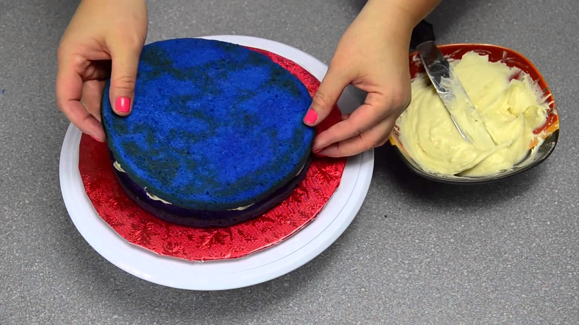 Rainbow Cake  How to Make a Rainbow Cake by Cookies Cupcakes and Cardio