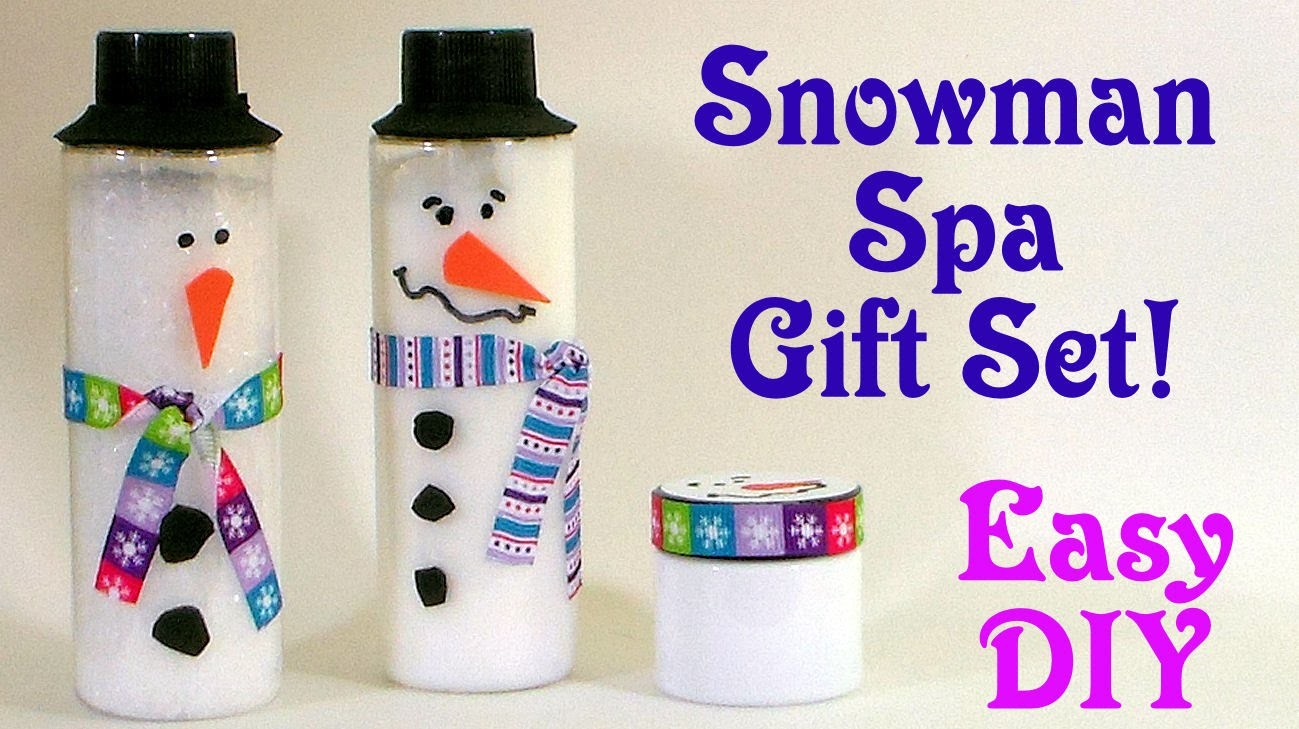 Snowman Spa Gift Set Easy DIY kids can make