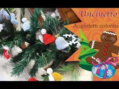 Uncinetto Natale: Angioletti colorati