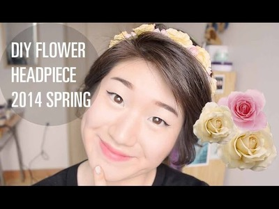 2014 Spring Fashion Trend Inspired DIY Flower Headpiece + Giveaway!(CLOSED)
