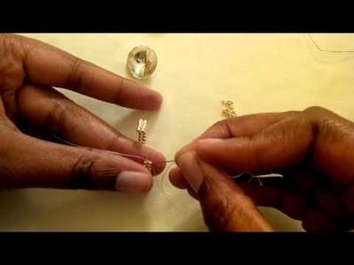 Beading Techniques and tips #2: Setting a Rivoli with Herringbone