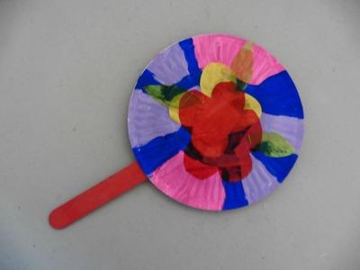 Como hacer un abanico con 2 platos de papel - Creative Flower