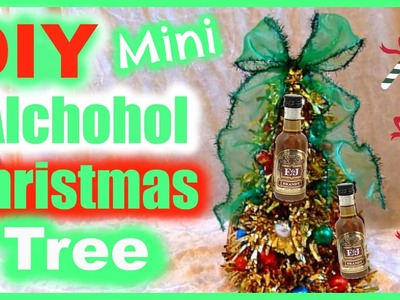 DIY Alcohol Bottle Christmas Tree Gift Idea!