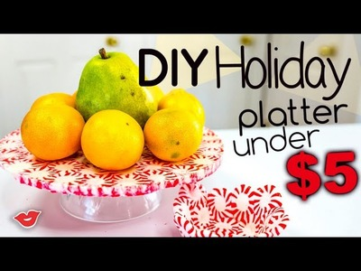 DIY Candy Holiday Platter Under $5 | Alison from Millennial Moms