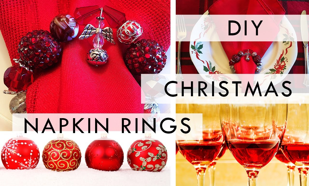DIY: Christmas Napkin Rings