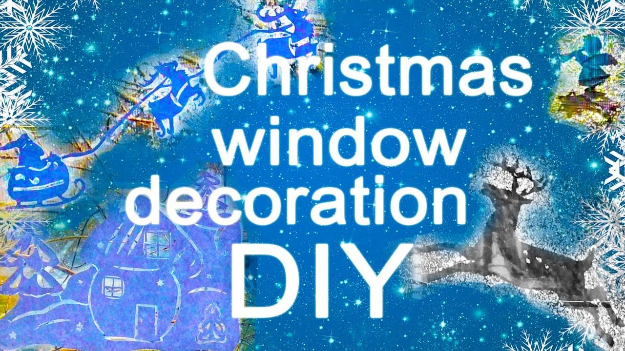 DIY. CHRISTMAS WINDOW DECORATION toothpaste