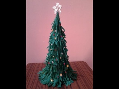 DIY Easy and Quick Table Top Christmas Tree