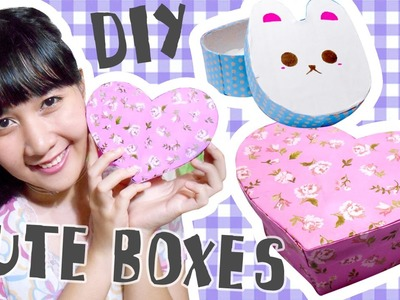 DIY Gift Box with Cute Heart and Bunny Shape - Recycle Project (Not Origami Method)