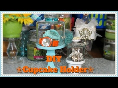 DIY Glass Covered Cupcake Pedestal Holder