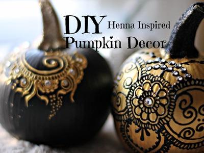 DIY Henna Inspired Pumpkin Decor | Hennafly