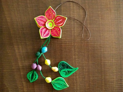 DIY : How To Make Beautiful Flower Danglers Using Paper Art Quilling