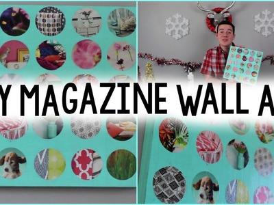 DIY Recycled Magazine Wall Art