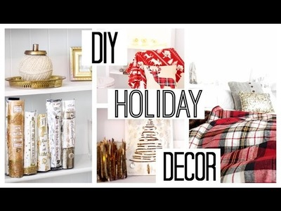 DIY Rustic  Holiday + Winter Room Decor  Anthropologie Inspired| Inexpensive + Easy
