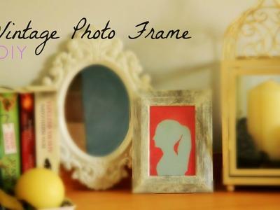 DIY: Vintage Wooden Photo Frame