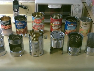 """Homemade DIY Hobostoves! - Simple """"Steel Can"""" Cookstoves - w.full instructions (7 complete builds)"""
