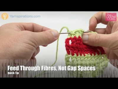 How to Change Color in Crochet with Darning Needle