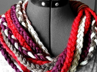 How To Create A Braided Yarn Cowl - DIY Crafts Tutorial - Guidecentral